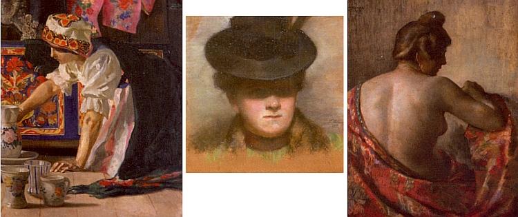 Tři obrazy její sestry Ernestine ze sbírek Muzea Šumavy v Kašperských Horách