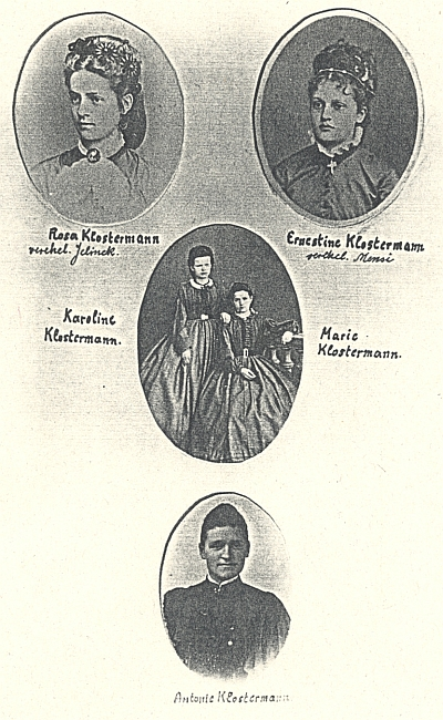Dcery MUDr. Josefa Klostermanna, Karlovy sestry...