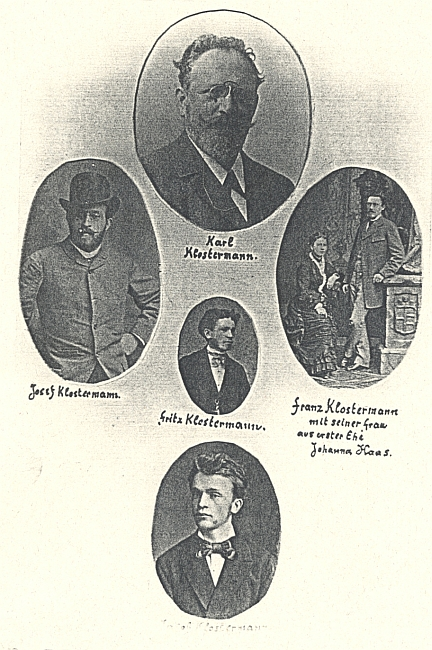 ... a synové, Karel a jeho bratři (viz i Karl Klostermann)