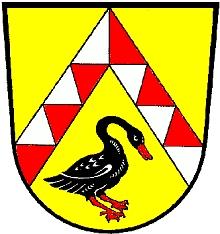 Znak obce Beutelsbach, kde zemřel a kde je pochován, s černým kormoránem, hnízdícím až v poslední době stále častěji i v českých zemích (poprvé vůbec na jižní Moravě 1982, nyní i v jižních Čechách)