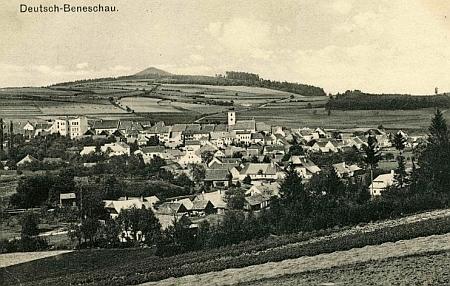 Benešov nad Černou na pohlednici Josefa Seidela z roku 1912