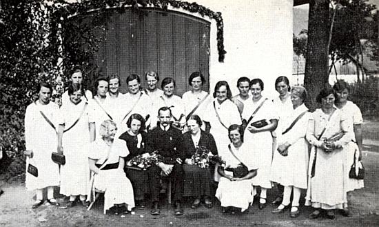 Snímek ze svěcení řepešínské hasičské stříkačky