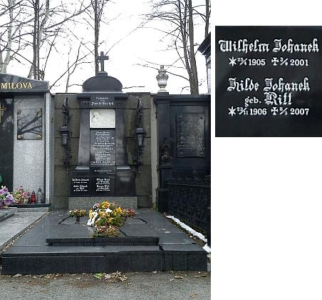 I se svou ženou Hildfriede (Hilde) byl pohřben do hrobky rodiny Taschekovy na českobudějovickém hřbitově u sv. Otýlie