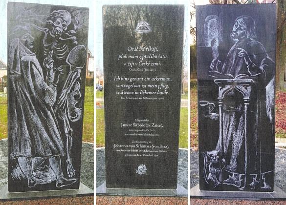 Jeho trojboký památník, zřízený roku 2017 v Šitboři