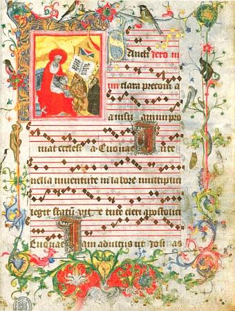 Původní podoba  oficia sv. Jeronýma s údajným zpodobením básníkovým