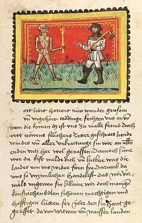 Heidelberský rukopis s ilustrací k jedné zkapitol