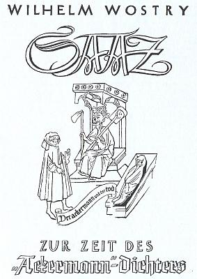 """Posmrtně vydaná práce (1951) o Žatci včasech """"Oráče z Čech"""", jejímž autorem je Wilhelm Wostry"""