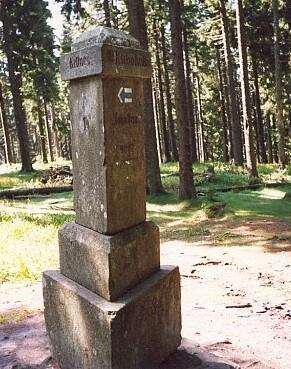 Johnstein cestou na vrchol Boubína
