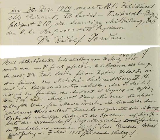 Zpráva o jeho smrti na stránkách školní kroniky německého gymnázia v Českém Krumlově