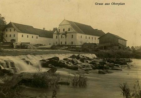 Mlýn v Předním Hamru čp. 100 na staré pohlednici