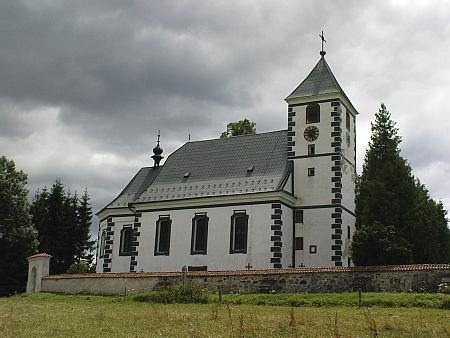 Kostel sv. sv. Jakuba Staršího v Želnavě, kde byli oddáni rodiče a on sám pokřtěn; rodný dům čp. 3 již nestojí