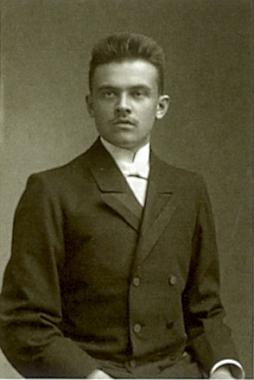V době svých studií na snímku Josefa Seidela