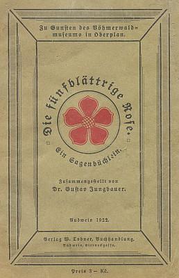 Obálka (1922) knihy vydané v Českých Budějovicích nakladatelstvím W. Tobner