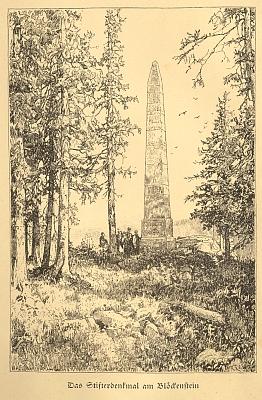 Obálka brožovaného vydání, frontispis a titulní list (1924) jeho nejcenějšího odkazu, souboru šumavských pověstí (vydal Eugen Diederich v Jeně)