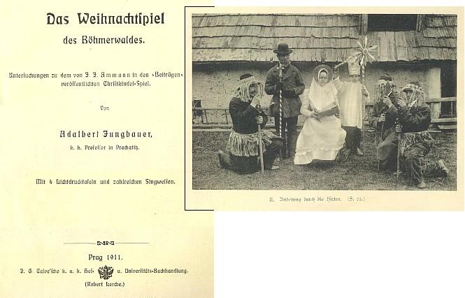 Titulní list (1911) a frontispis jeho knihy