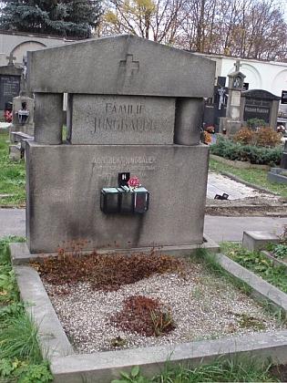 Jeho hrob v Českém Krumlově
