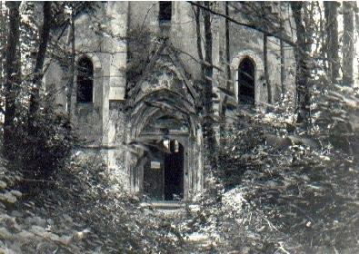 Kostel v Zadní Zvonkové před rekonstrukcí...