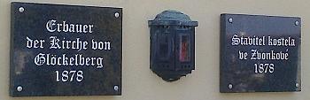 Hrob stavitele novogotické přestavby kostela ve Zvonkové na hřbitově v Českém Krumlově