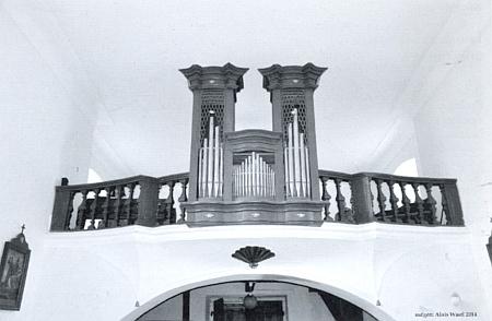 Varhany kostela v Nicově