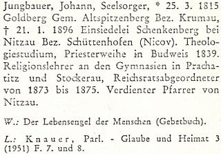 Heslo v biografickém lexikonu k dějinám českých zemí