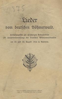 Obálka (1924) publikace ke 40. jubileu DBB i s jeho písňovými texty