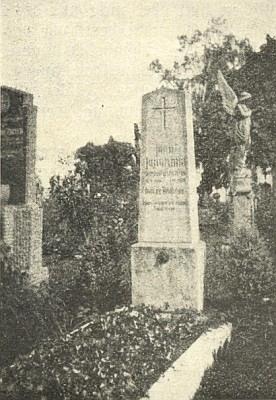 Hrob na českobudějovickém hřbitově usv. Otýlie