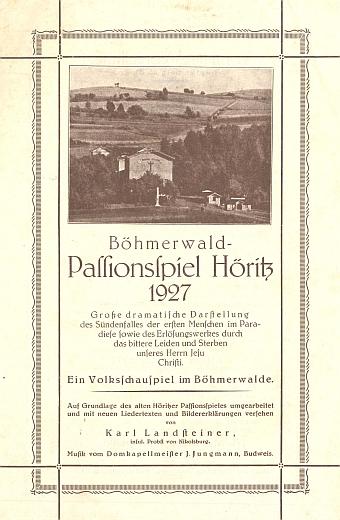Plakát hořických pašijových her z roku 1927 uvádí jeho české křestní jméno Jaroslaus vcudné zkratce