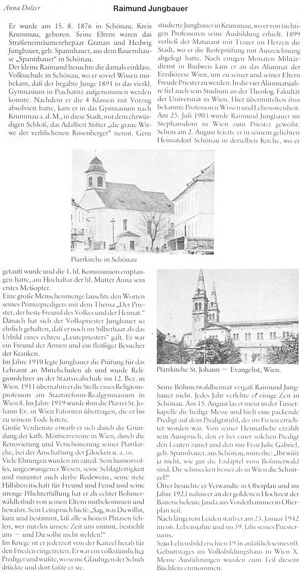 Text Anny Dolzerové o něm na stránkách krajanského časopisu