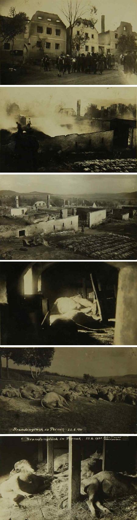V roce 1931 Pernek vyhořel, dočkal se však obnovy
