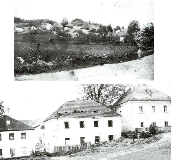 Kaliště (Gollitsch), součást dnešního Větřní, jak vyhlíželo kdysi