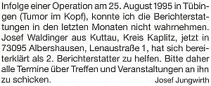 Tímto oznámením se vlastně rozloučil se čtenáři Glaube und Heimat...