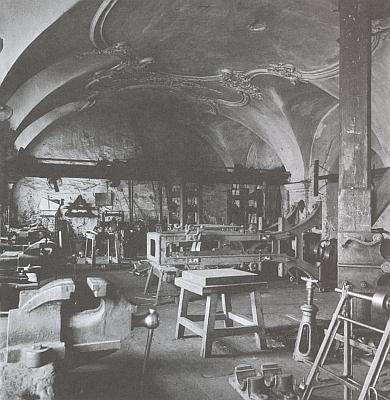 Zlatokorunský refektář na přelomu 19. a 20. století