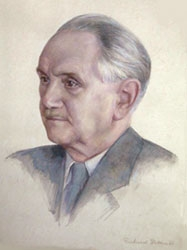 Na akvarelu Richarda Dillera (1890-1969) z roku 1960