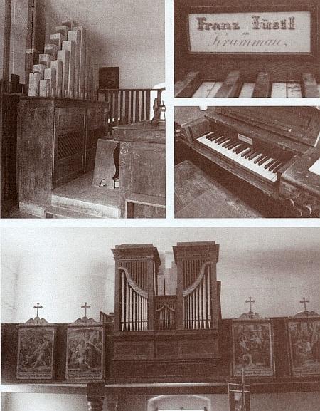 Jeho varhany z roku 1842 v kostele Jména Ježíš a Panny Marie v Křišťanově, na nichž pracoval spolu s Franzem Jentschkem (†1847), také zČeskéhoKrumlova