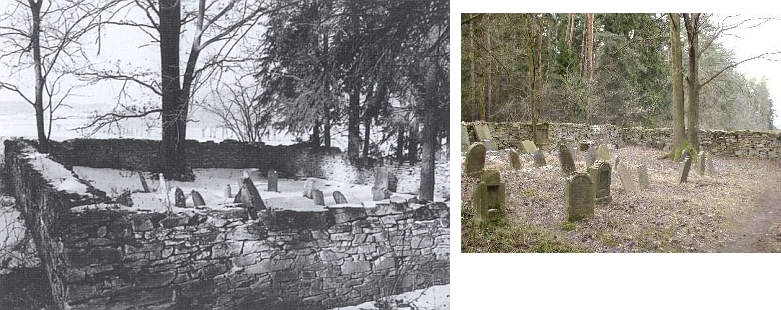 Tady na židovském hřbitově v jihočeském Oseku u Strakonic spočívají ostatky Kafkových prarodičů, děda Jakoba ajeho ženy Franzisky