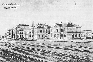 Pohlednice s měnícími se označeními dnešních Českých Velenic- ta poslední je orazítkována 1925
