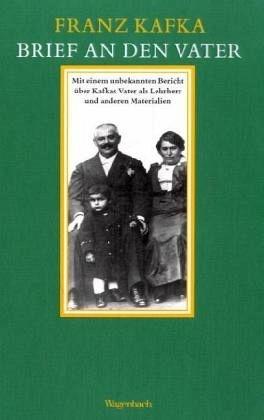 """Obálka (2004) knihy Dopis otci vydané berlínským nakladatelstvím Wagenbach, na níž je zachycen malý Franz se svými rodiči, z nichž právě otec pocházel z Oseku na Strakonicku, ležícího, jak se píše v knize """"Kafkovy zlé Čechy"""", pouhých 20 km od Sušice, kde kněz František Pravda chrlil povídky, ve kterých """"žid vystupuje jako zloduch"""""""