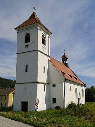 Kostel sv. Martina v Polné, kde byl oddán