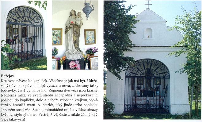 Chvála návesní kaple v Božejově, odkud byla rodem babička z otcovy strany