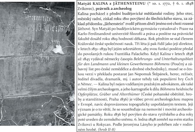 Hrob rodiny Kalinů z Jäthensteinu na Olšanských hřbitovech v Praze