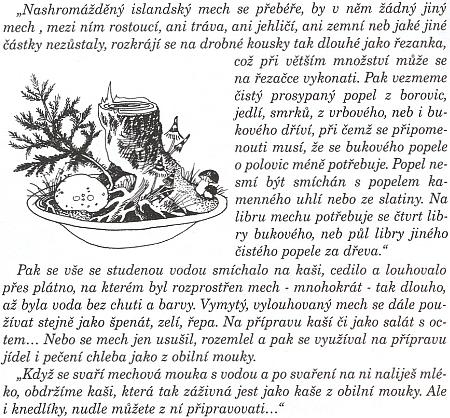 Jeho návod na mouku z mechu v novém vydání Kuchyně staré Šumavy...