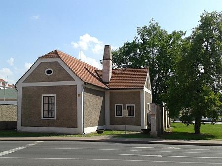 Strážní domek koněspřežky v Mánesově ulici v Českých Budějovicích...