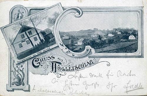 Také Volovice (Wolletschlag), zmíněné v jeho textu, měly svou pohlednici