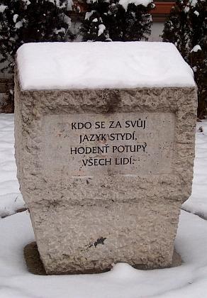 Velešínský památník jeho bratra Josefa Vlastimila Kamarýta