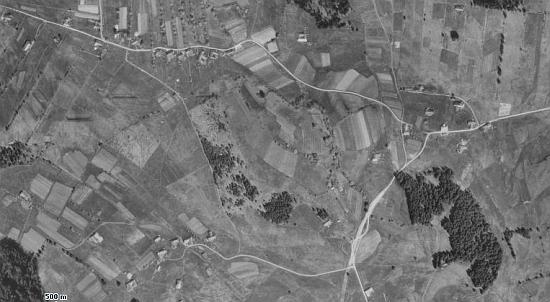 Květná a Zlatá na leteckých snímcích z let 1952 a 2008