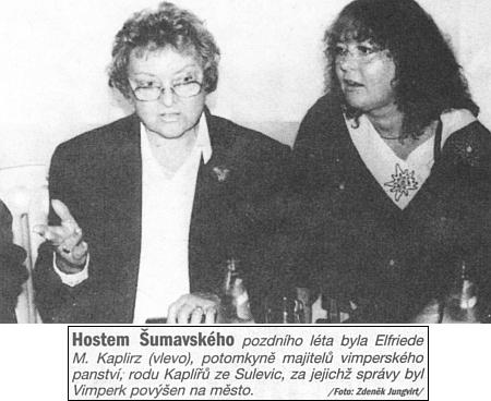 Takto ji prezentovaly Listy Prachaticka jako hosta akce Šumavské pozdní léto