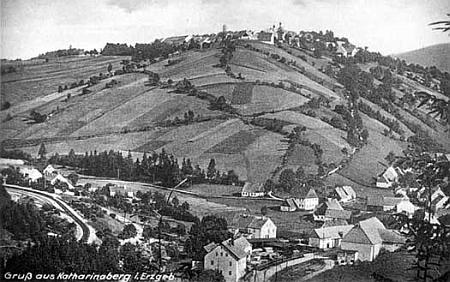 Rodné město Hora Svaté Kateřiny na staré pohlednici