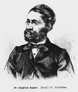 Na kresbě Friedricha Kriehubera (1834 - 1871)