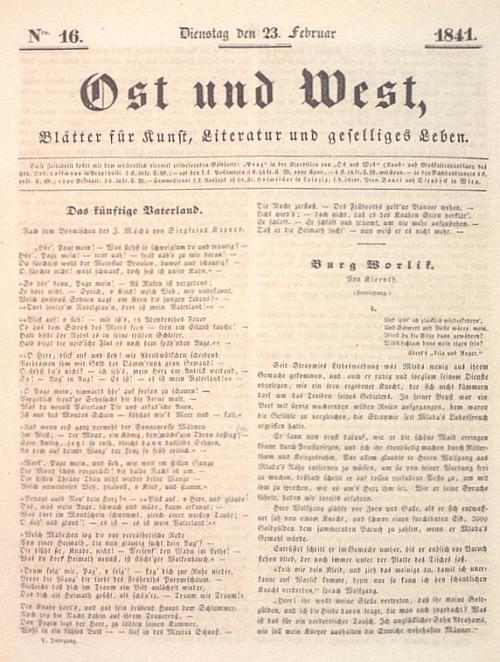 Prvým překladem básně Karla Hynka Máchy do němčiny bylo Kapperovo tlumočení skladby Budoucí vlast, (Das künftige Vaterland), zveřejněné v roce 1841 v časopise Ost und West