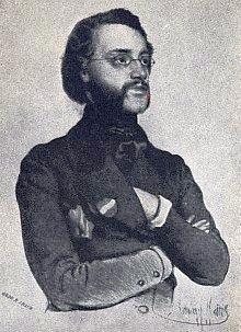 Na dobové litografii, jejímž autorem je rovněž Eduard Kaiser